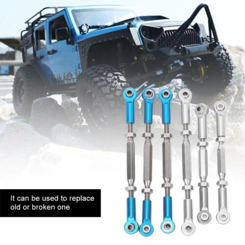 6Pcs RC Car Metal Pull Rod Set Fit for ECX 1//10 2WD Hobby Vehicle Crawler Kits