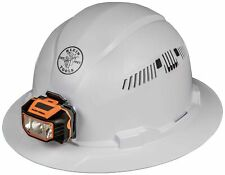 Klein Tools 60407 Hard Hat With Light Vented Full Brim Style Padded Self W