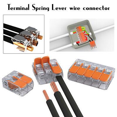 Wago 222 Connecteurs Électriques Fil Bloc Pince Terminal Câble 12 V 240 V Réutilisable