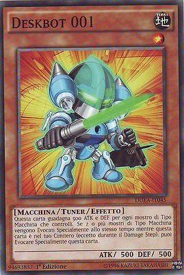 DUEA-EN045 YUGIOH 3x DESKBOT 001 COMMON PLAYSET ED