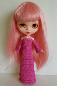 BLYTHE-DOLL-CLOTHES-Pink-Gown-and-Jewelry-Handmade-Fashion-NO-DOLL-dolls4emma