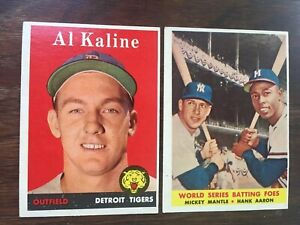 Details About 1958 Topps Set 488494 Mickey Mantle Maris Rookie Aaron Mays 99 Comp Vg Nm