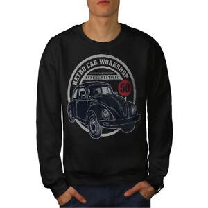 Felpa Car uomo Retro Black Workshop New da 7qvr0On7