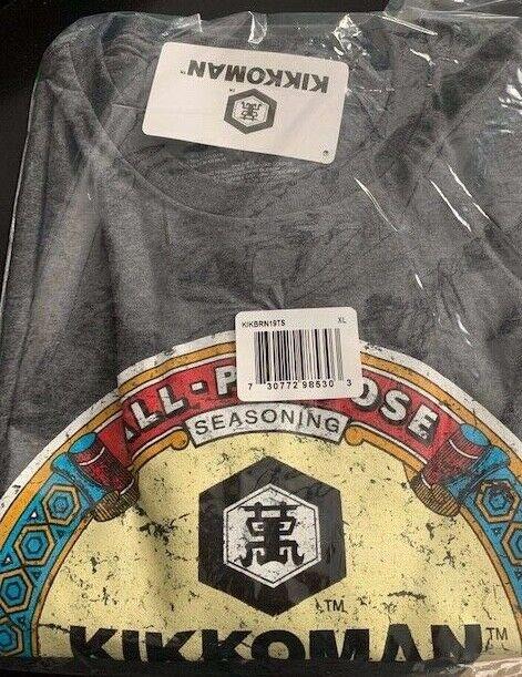 XL Official KIKKOMAN SOY SAUCE T-Shirt Grey Men/'s XL Super Soft T-Shirt-