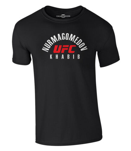 Khabib T-Shirt Nurmagomedov UFC Mma Fighting Shirt Russia Gym Conor S-XXL