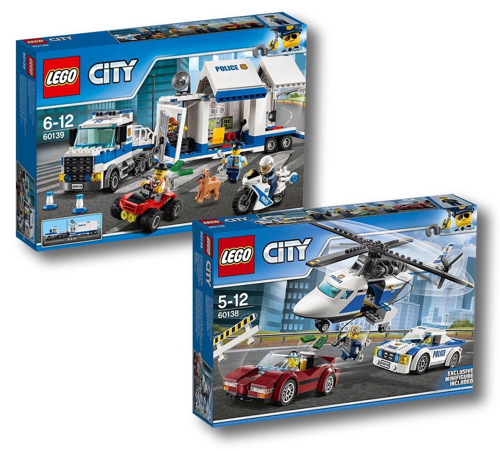 LEGO® City 60138 60139  Rasante Verfolgungsjagd+Mobile Einsatzzentrale  NEU OVP