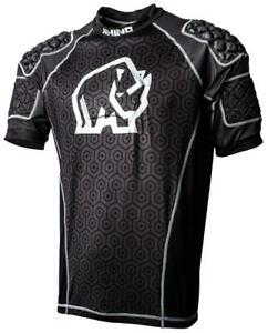 Rhino-Kids-Rugby-Shirt-Pro-Protection-Lightweight-Shoulder-Pad-Body-Armour-Black