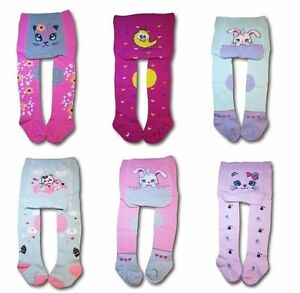 Baby Girl Crawling Cotton Tights ABS Sole Rubberized Anti slip Knees 3-24 Months