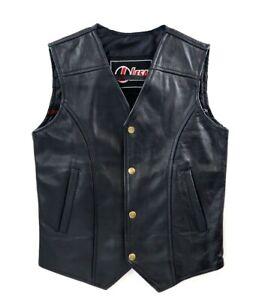 Kids Boys Girl Leather Motorcycle Vest Jacket Sleeveless Biker Waistcoat Outwear