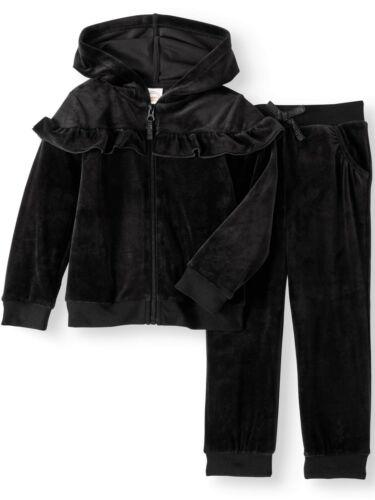 Toddler Girls/' Ruffle Velour 2 piece Hoodie set 5T *  sizes 24Mths