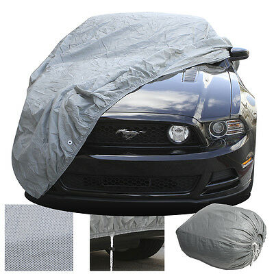 2-Layer Car Auto Cover Fitted Indoor OutDoor Light Weight Sun Dust Breathable