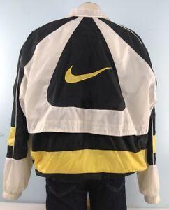 834aa5756da5 Image is loading Nike-Windbreaker-XL-Jacket-Lightweight-Yellow-Black-White-