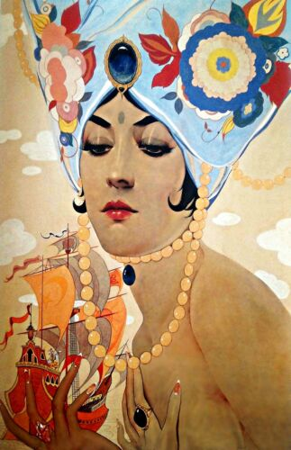 People Repro Made in U.S.A Giclee Prints Scheherazade by Alberto Vargas