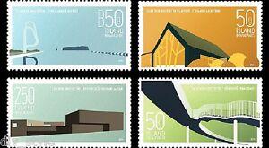 Moderne-Design-V-Architecture-Set-4-MNH-Timbres-2014-Islande-1334-7-Pont