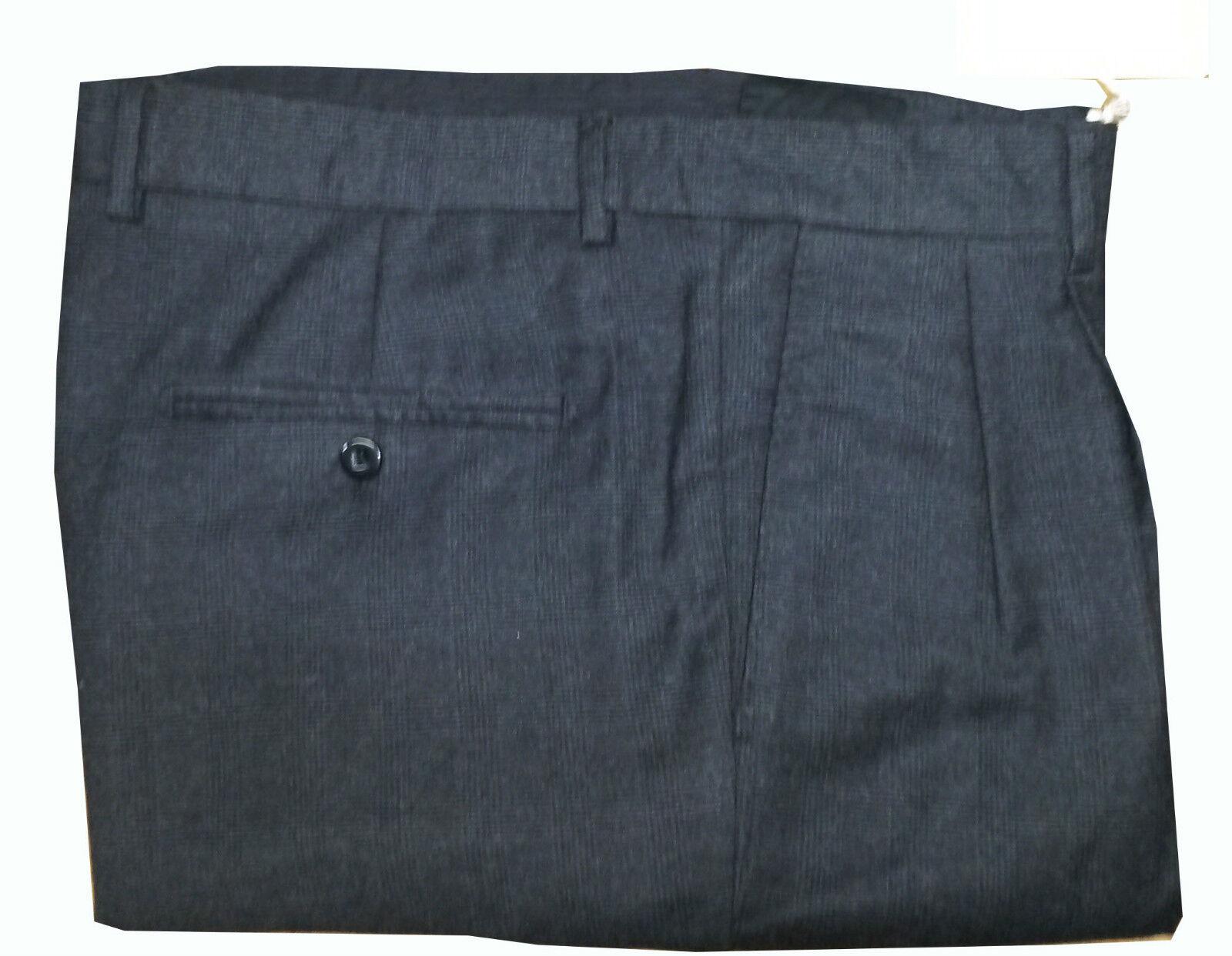 GRIFONI Pantalone due  pences galles gris 100% lana Made in   hasta un 65% de descuento