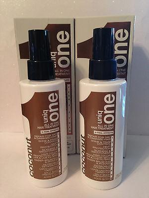 UNIQ ONE UNIQUE 1 COCONUT ALL IN ONE HAIR TREATMENT SPRAY  - 5.1oz x2!