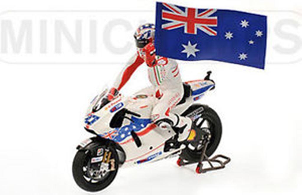 Minichamps 090127 Ducati desmo gp09 métalliques vélo Casey Casey Casey Stoner figure drapeau 1,12 th | Modèles à La Mode  6d5d4f