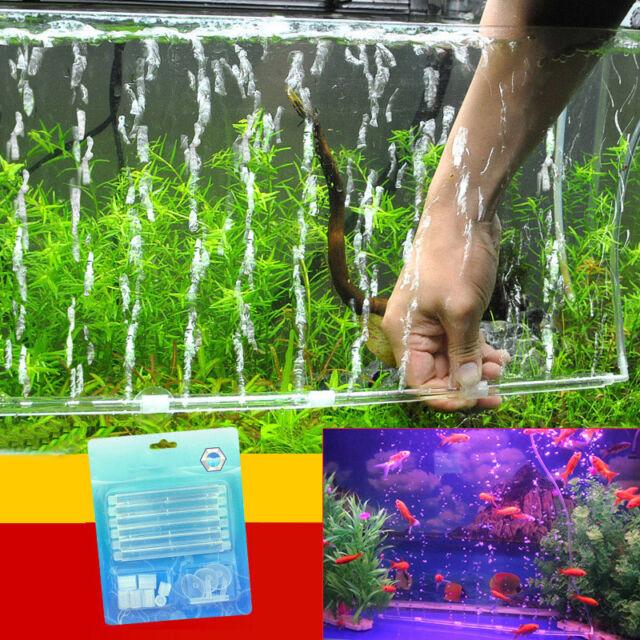 Air Bubble Wand Plastic Aerator Aquarium Fish Tank Pump Hydroponic Oxygen 1 Set