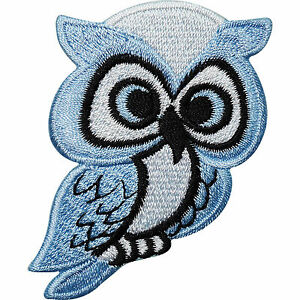 Blue-Owl-Embroidered-Iron-Sew-On-Patch-Bag-Jacket-T-Shirt-Jeans-Badge-Transfer