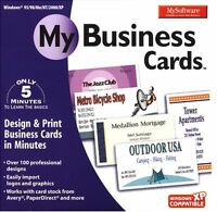 Mysoftware My Business Cards Pc Windows Xp Vista 7 8 10 Sealed