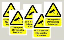 5 Warning CCTV camera window stickers signs decals 50mm x 70mm