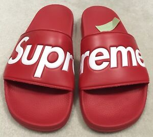 b8413ee576957c Supreme Sandals Red S S 2014 Size 11 New Rare Authentic box logo ...
