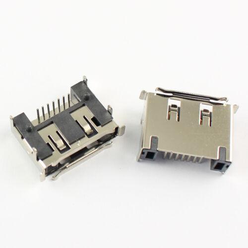 10Pcs E-SATA eSata 7 Pin Right Angle DIP Male Connector For Hard Drive HDD