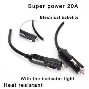 12V-Male-Car-Cigarette-Lighter-Socket-Plug-Connector-With-Fuse-Red-LEDPlasticsKR