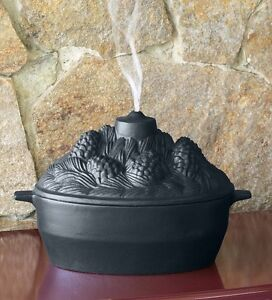 Cast Iron Pine Cone Candle Design Wood Stove Steamer