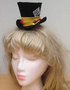 Image is loading Mad-Hatter-Inspired-mini-hat-fascinator 8021d10ba30