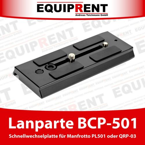 Lanparte bcp-501 120mm rápido cambio placa para Manfrotto 501pl//qrp-03 eqc38