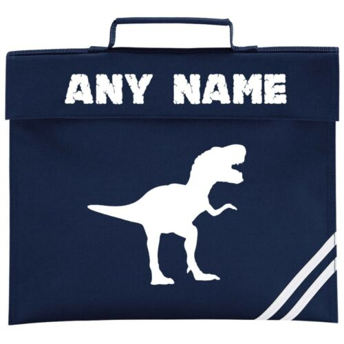 Personalised Dinosaur//T Rex School Book Bag *ANY NAME Choice of Colours*