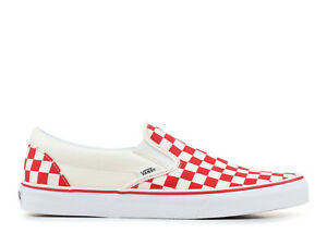 dd077b70 Details about VANS Classic Slip-On Red Primary Checkerboard VN0A38F7P0T Sz  10