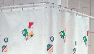 Tenda Per Vasca Da Bagno Angolare : Tubo bastone sostegno per tenda doccia vasca angolare cm ebay