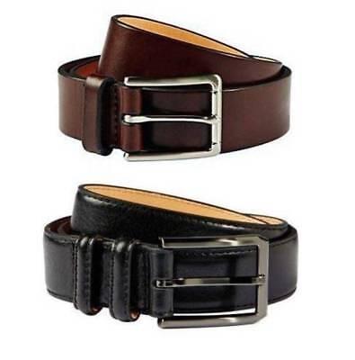 Kirkland Signature Mens Italian Full Grain Cow Leather Belt Black