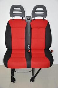 Orig-Doppelsitzbank-fuer-Beifahrer-Seite-Neuwertig-Sitz-Ducato-Boxer-Jumper