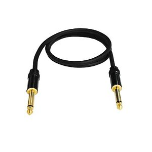 """2 Pack Audio2000/'s E09103p2 3 Ft 1//4/"""" TS to TS Guitar Instrument Cable"""