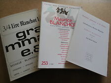 textes MAURICE BLANCHOT REVUE DES SCIENCES HUMAINES réunis par ROGER LAPORTE