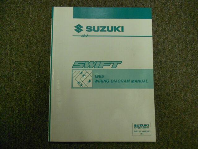 1995 Suzuki Swift Electrical Wiring Diagram Shop Manual Factory Oem Book 95