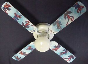 New amazing spiderman spider man ceiling fan 42 ebay image is loading new amazing spiderman spider man ceiling fan 42 aloadofball Gallery