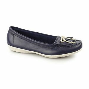 679dc30a12aae Hush Puppies CEIL MOCC KL Ladies Womens Leather Slip On Casual ...