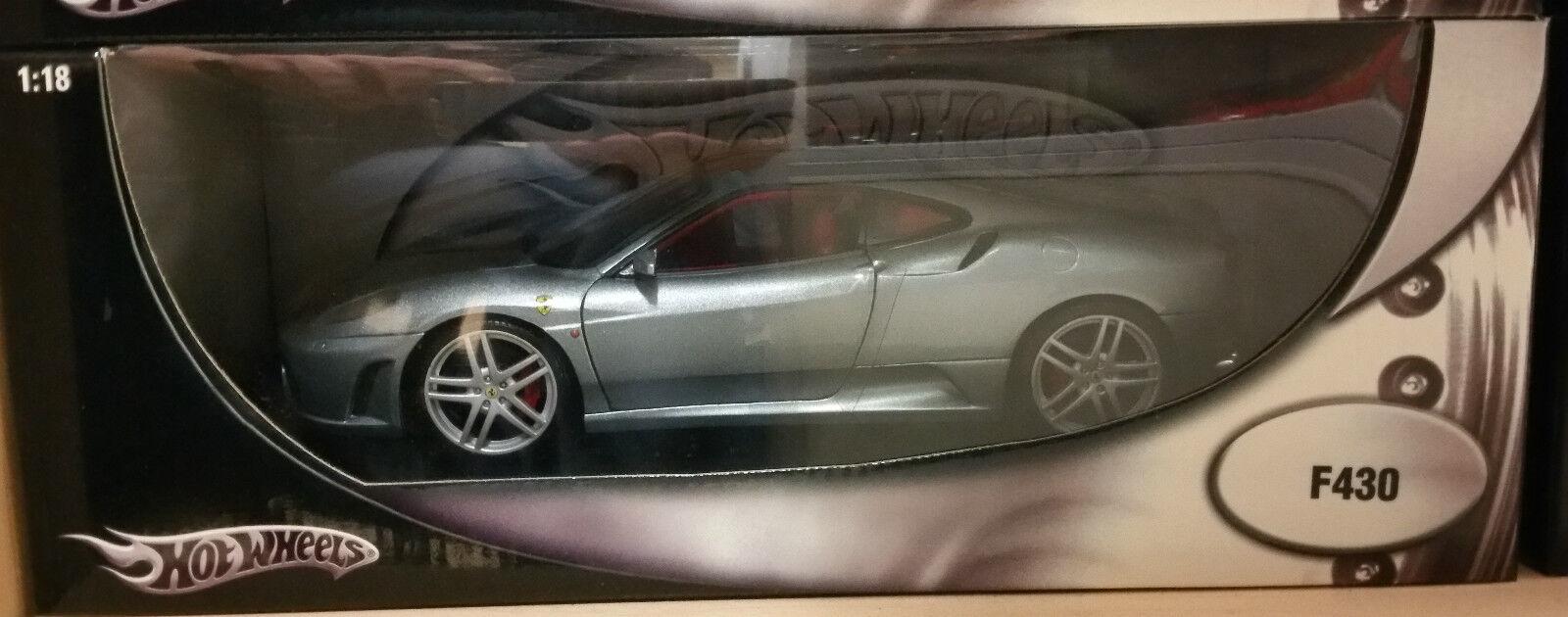 precios razonables Ferrari F430 Coupe Plata Azul en rojo Hot Hot Hot Wheels Edición Regular de 1 18 Muy Raro  precio razonable