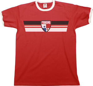 0f487ed43 Mens PANAMA Football T-Shirt WORLD CUP 2018 Russia Retro Strip Kit ...