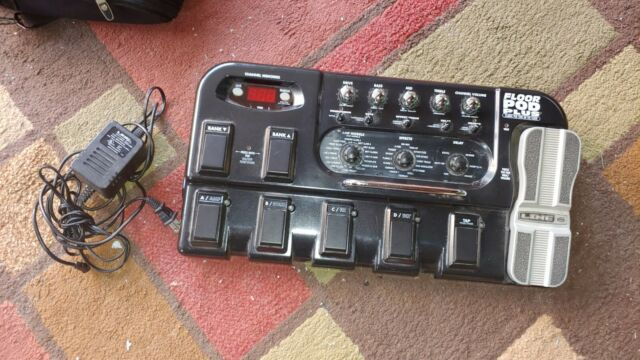 Line 6 Bass Floor Pod Multi Effects Pedal With Power Supply And Amp Cord For Sale Online Ebay