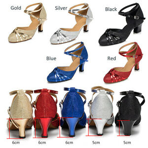 Dancewear Ballroom New Women's Brown Satin Latin dance shoes Adult female soft outsole Salsa shoes