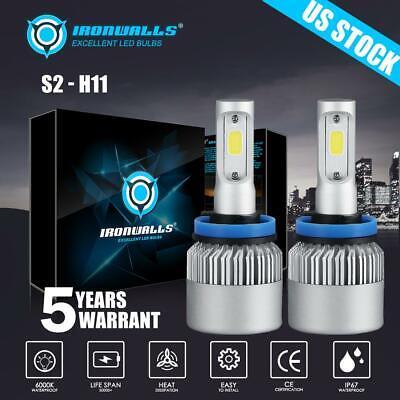 H11 COB LED Headlight Low Beam Bulb for Toyota Camry Tundra Prius Highlander