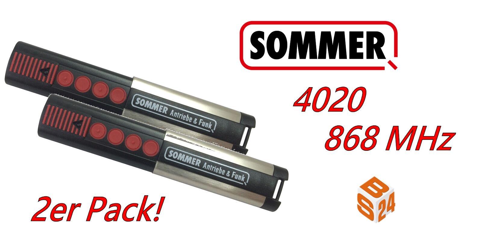 2 x Sommer Handsender 868,8 MHz 4020 Funk Fernbedienung TX03-868-4 Toröffner
