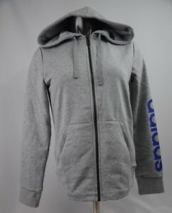 Adidas-Essential-Hoodie-Grey-Blue-Women-039-s-Size-S-L-New-with-Tags-DM3308