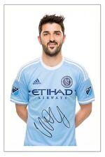 DAVID VILLA NEW YORK CITY FC SIGNED AUTOGRAPH PHOTO PRINT  SOCCER