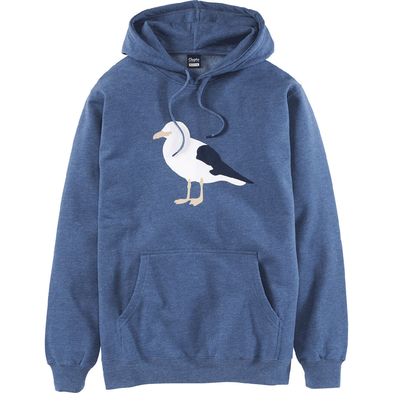 CLEPTOMANICX Uomo Hoodie Gull 3